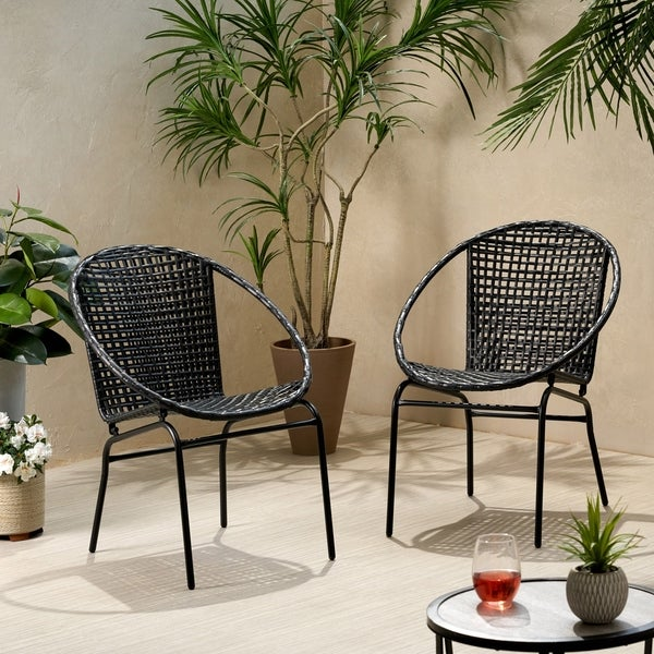 Java Outdoor Modern Wicker Club Chair (Set of 2) by Christopher Knight Home. Opens flyout.