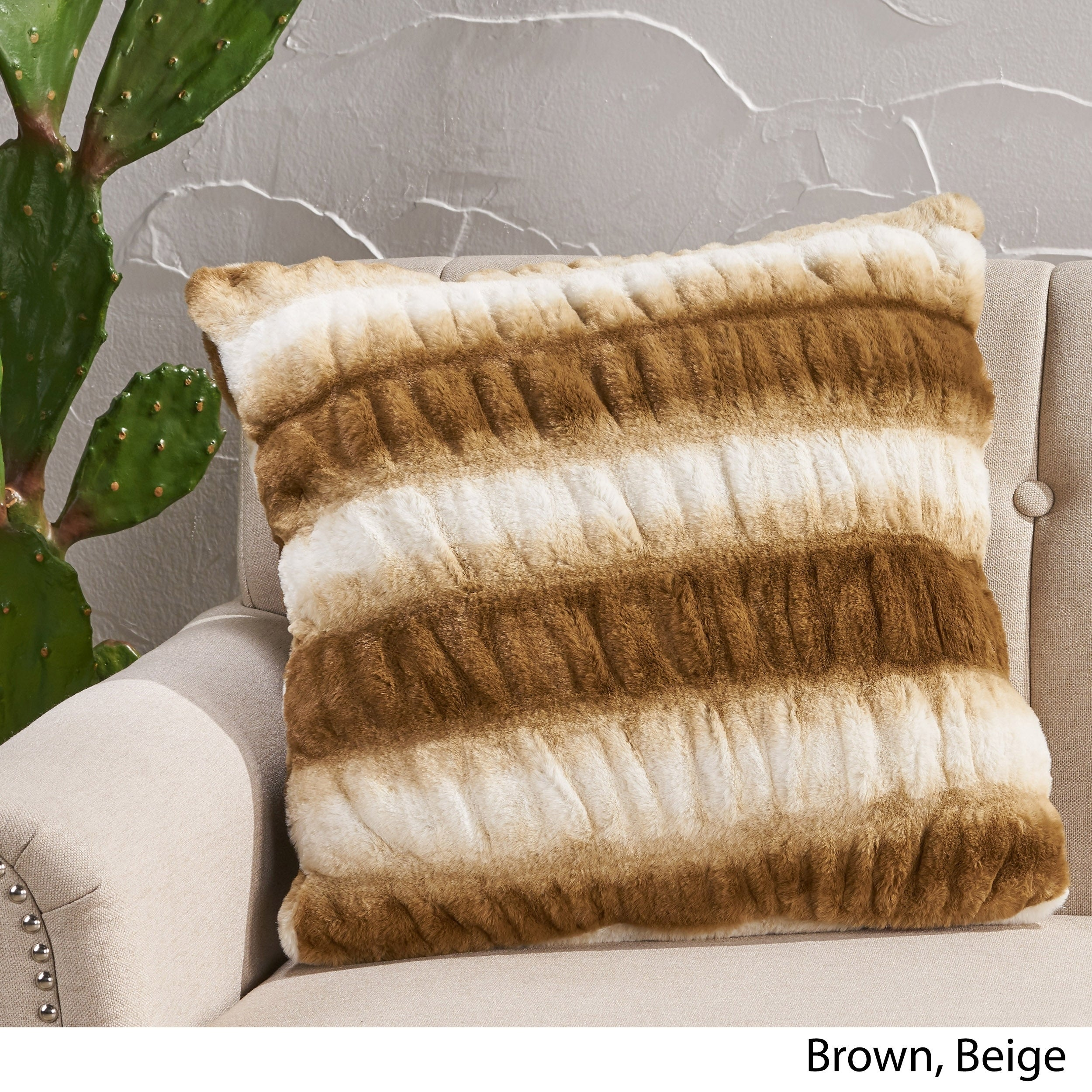 Shop Fordham Modern Faux Fur Pillow Cover By Christopher Knight Home On Sale Free Shipping Today Overstock 29126596