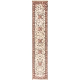 Persian Oriental Hand Knotted Carpet Traditional Wool Indian Rug - 11' 7'' X 2' 4''
