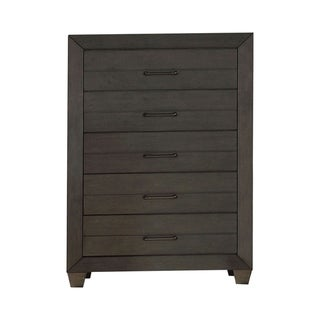 Furniture of America Torm Transitional Grey Solid Wood 5-drawer Chest