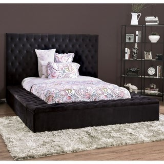 Link to Furniture of America Ball Transitional Black Tufted Platform Bed Similar Items in Bedroom Furniture