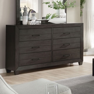 Furniture of America Torm Transitional Grey Solid Wood Dresser