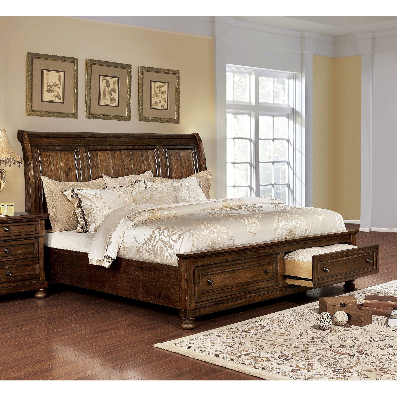 - Shop Furniture Of America Mallone Transitional Oak Solid Wood