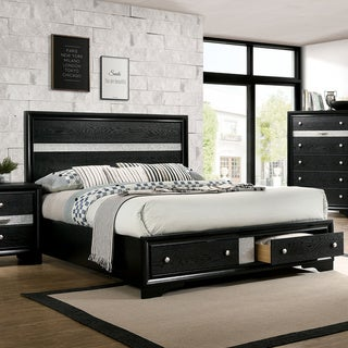 Silver Orchid Badgley Contemporary Black Solid Wood Platform Bed