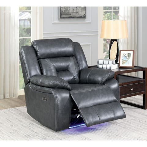 Furniture of America Farciya Grey Power Reclining Chair