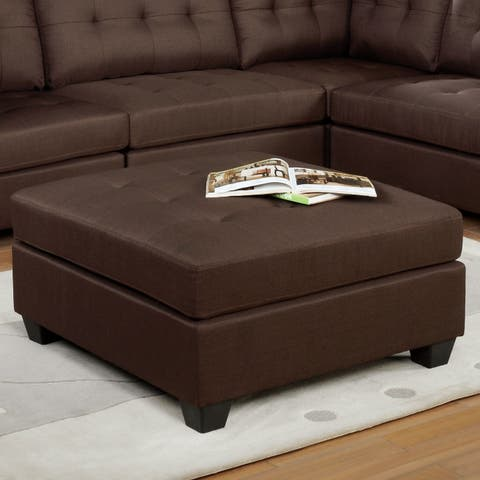Stenelle Transitional Brown Ottoman by FOA
