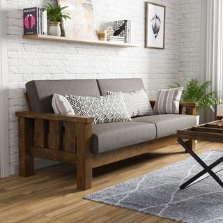Carbon Loft Wellinghall Rustic Antique Oak Sofa