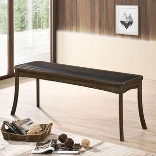 Rotan Transitional Burnished Oak Bench by FOA