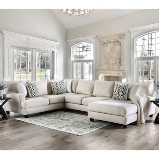 Waters Contemporary Beige Sectional by FOA