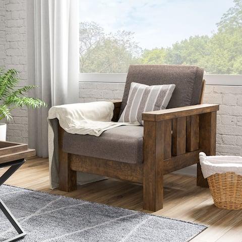 Carbon Loft Wellinghall Rustic Antique Oak Chair