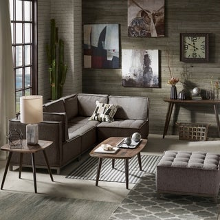 Ink and Ivy Grant Grey Multi Modular Corner Sofa