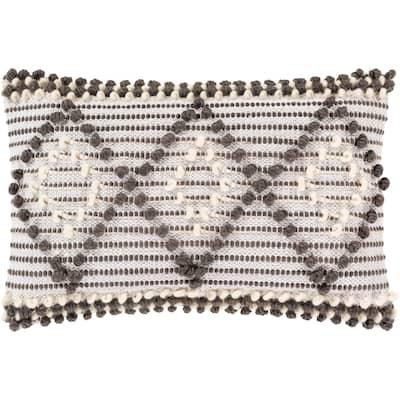 Audra Bohemian Textured 22x14-inch Lumbar Throw Pillow Cover