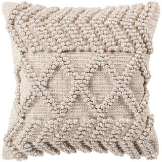Audra Bohemian Textured 18-inch Throw Pillow Cover