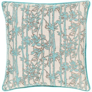 Brier Jacquard Floral 20-inch Throw Pillow Cover
