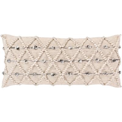 Audra Bohemian Textured 32x14-inch Lumbar Throw Pillow Cover