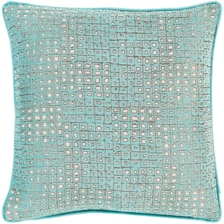 Brier Jacquard Geometric 20-inch Poly or Feather Down Throw Pillow