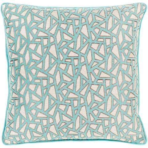 Brier Jacquard Mosaic 22-inch Throw Pillow Cover