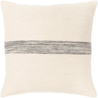 Cedro Striped Cotton 18-inch Poly or Feather Down Throw Pillow