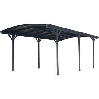Hanover 19-Ft. x 10-Ft. Aluminum Arch-Roof Carport with Polycarbonate Roof Panels