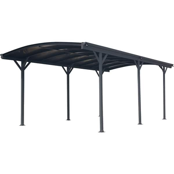 Shop Hanover 19 Ft X 10 Ft Aluminum Arch Roof Carport With