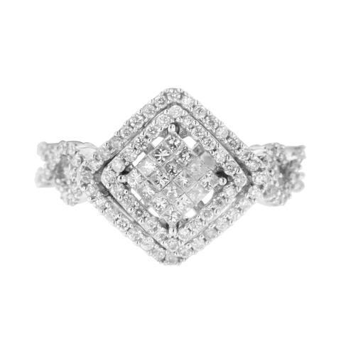 14K White Gold 1ct TDW Diamond Composite Ring (H-I, I1-I2)