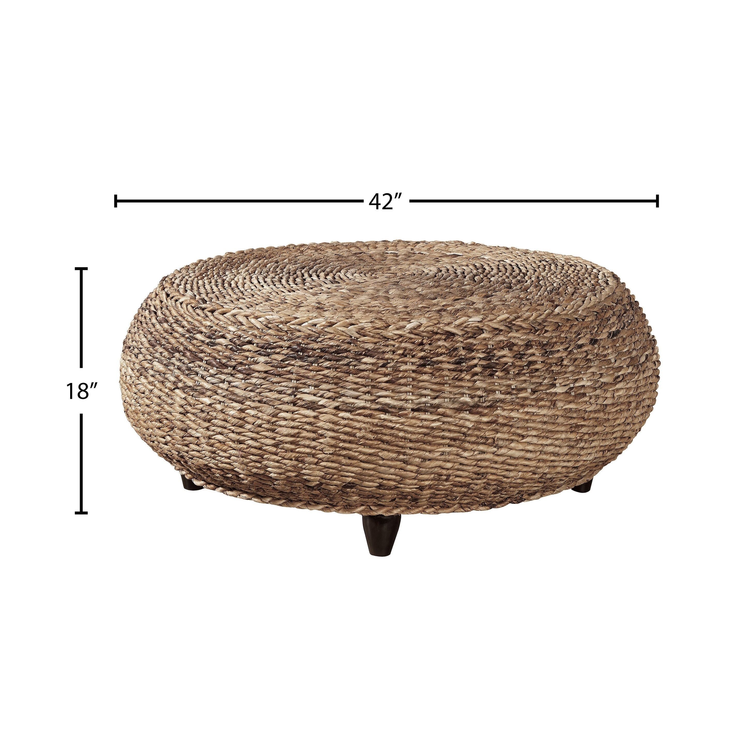 - Shop Kipling Seagrass Woven Ottoman - Overstock - 29129019