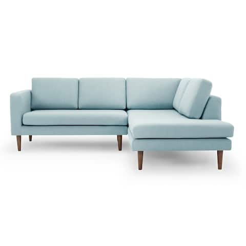 """Kardiel Mid-Century Dominique 89"""" Sofa Sectional Right - Width 89.4"""" x Depth 78.7"""" x Height 32.7"""""""