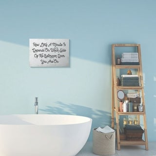 Stupell Industries Which Side Funny Bathroom Word Design Canvas Wall Art, Proudly Made in USA