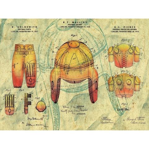 CANVAS Vintage 1929 Football Protective Apparel Patent Print