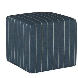 Skyline Furniture Cube Ottoman in Fritz Indigo