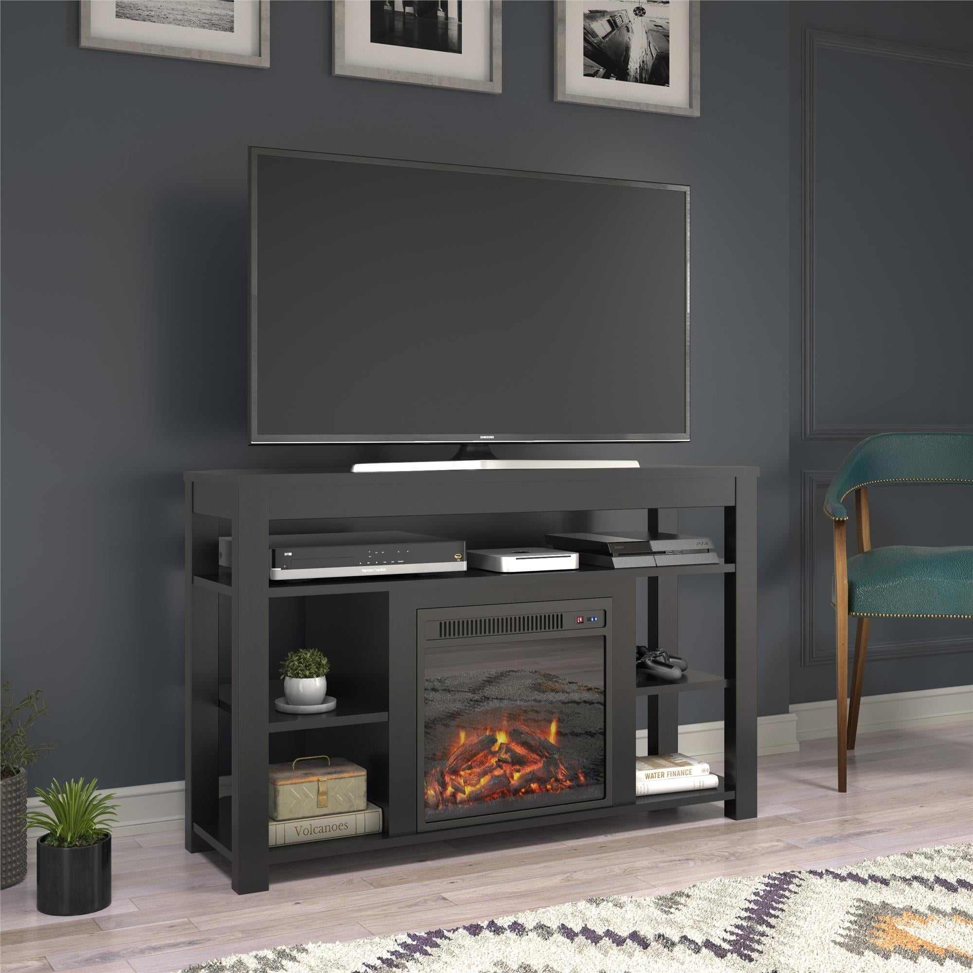 Avenue Greene Jack Corner Fireplace Tv Stand For Tvs Up To 55 Inches