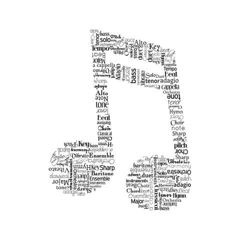 CANVAS Music Note by Designs by Tenisha