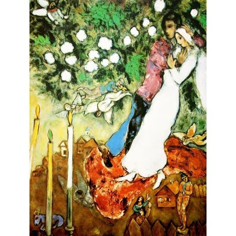 CANVAS The Three Candels by Marc Chagall