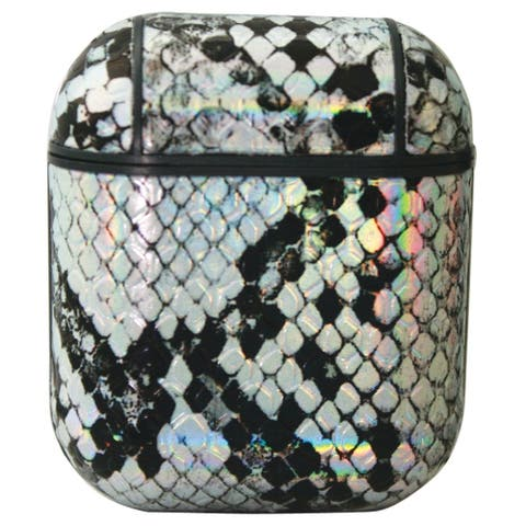 Olivia Pratt Metallic Snake Print Airpod Case