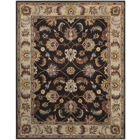 Handmade One-of-a-Kind Isfahan Wool Rug (Iran) - 8' x 10'