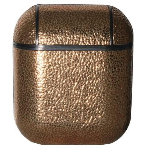 Olivia Pratt Metallic Faux Leather Airpod Case