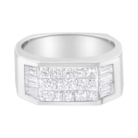 14K White Gold 1 3/4 ct. TDW Channel-Set Diamond Ring Band (G-H, VS2-SI1)