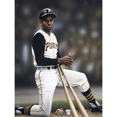 CANVAS Roberto Clemente on Deck by Darryl Vlasak Art Painting Reproduction