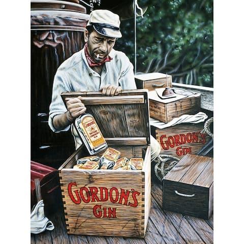 CANVAS Gordons Gin Humphrey Bogart Artwork by Darryl Vlasak Photographic Print