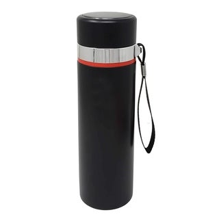 Vacuum Insulated Double Wall Stainless Steel Thermos Flask Bottle-Ice Cold Stays Up to 36 Hrs/Hot 24 Hrs, 16 oz Black