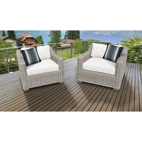 Coast 2 Piece Outdoor Wicker Patio Furniture Set 02b