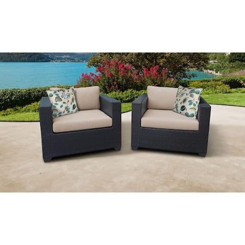 Belle 2 Piece Outdoor Wicker Patio Furniture Set 02b