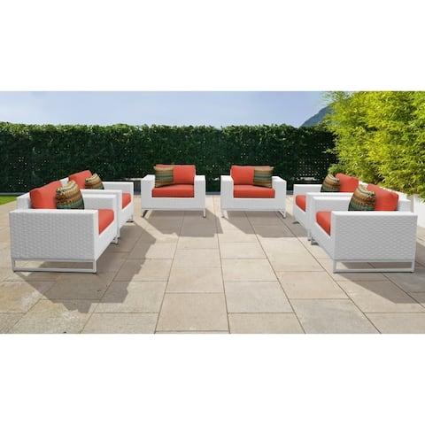 Miami 6 Piece Outdoor Wicker Patio Furniture Set 06a