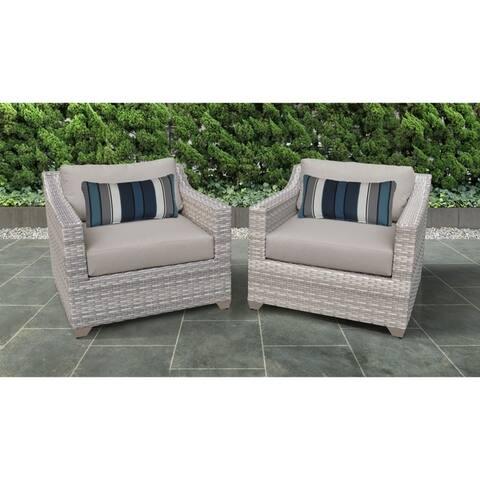 Fairmont 2 Piece Outdoor Wicker Patio Furniture Set 02b