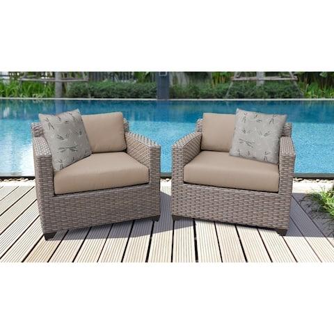 Florence 2 Piece Outdoor Wicker Patio Furniture Set 02b