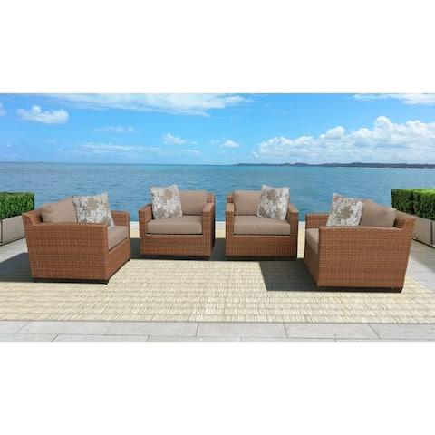 Laguna 4 Piece Outdoor Wicker Patio Furniture Set 04b