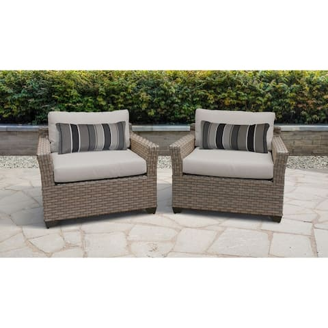 Monterey 2 Piece Outdoor Wicker Patio Furniture Set 02b