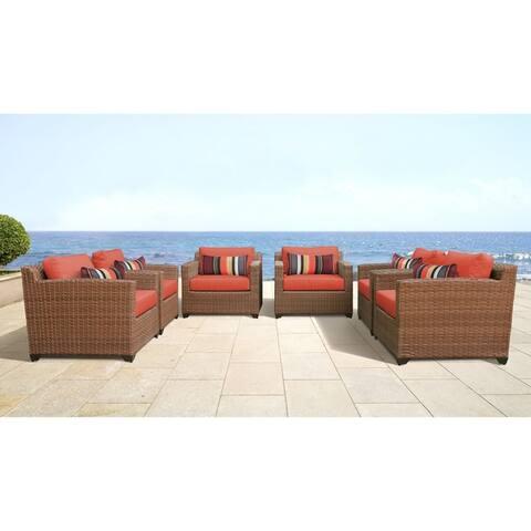 Laguna 6 Piece Outdoor Wicker Patio Furniture Set 06b