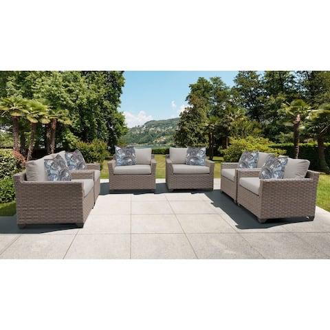 Monterey 6 Piece Outdoor Wicker Patio Furniture Set 06d