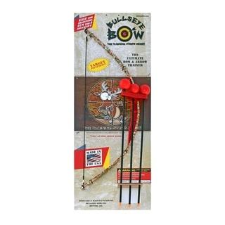 Bullseye Bow Indoor/Outdoor Toy Bow & Arrow Set Red